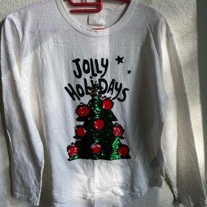 """Jolly Holidays"" Reversible Christmas Tree Tee"